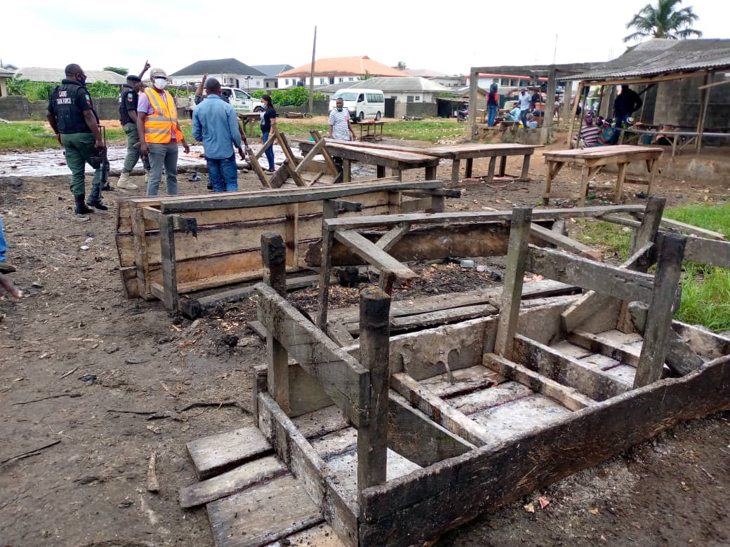 Illegal slaughter slab in the Oke Rube Area of Alimosho Local Government of Lagos State