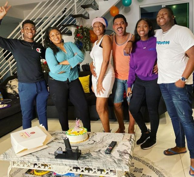 Omotola Jalade and family2