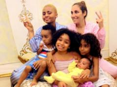 Ned Noko, Regina Daniels and family
