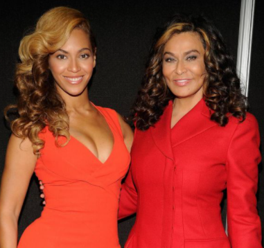 Tina Knowles-Lawson and Beyonce