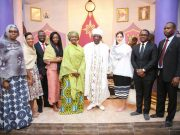 Toyin Saraki with the Wellbeing Foundation Team and special guests of honour