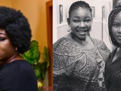 Ada Ameh and her late daughter