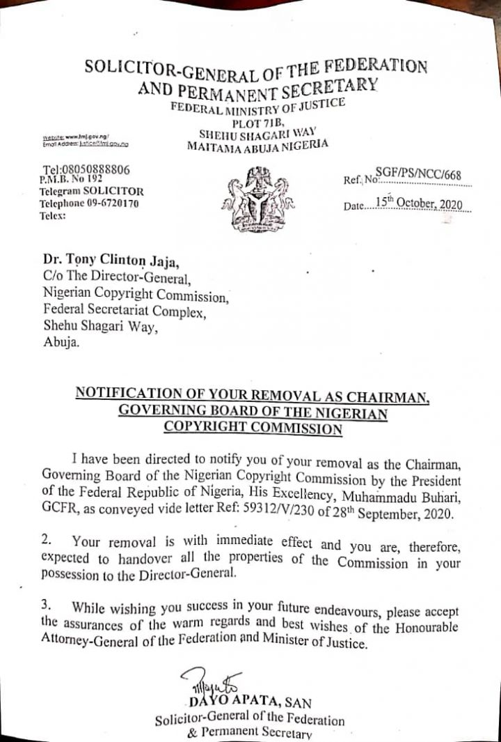 Buhari Fires Tonye Clinton Jaja, NCCB Chairman