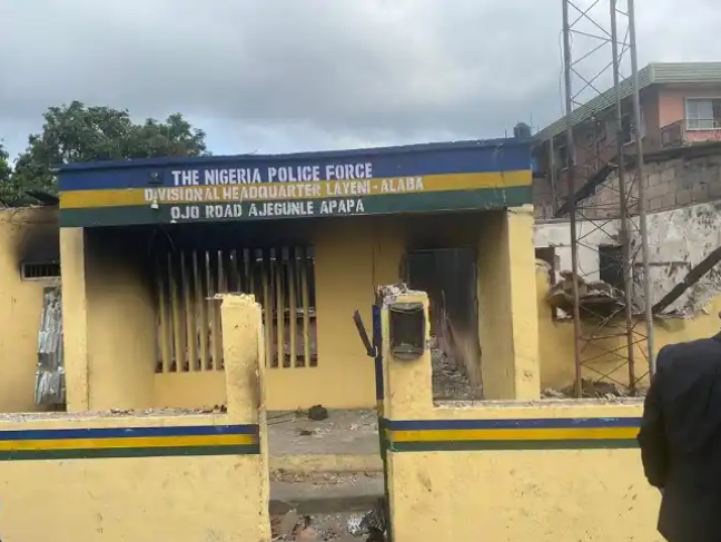 Burnt Police Station
