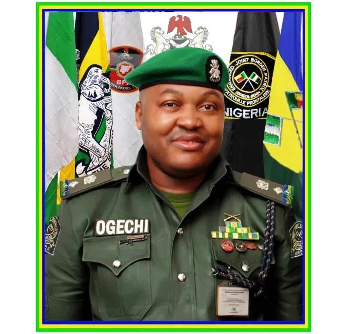 Commanding Officer Nigerian-Benin EJBP Seme, CSP Moses Ogechi