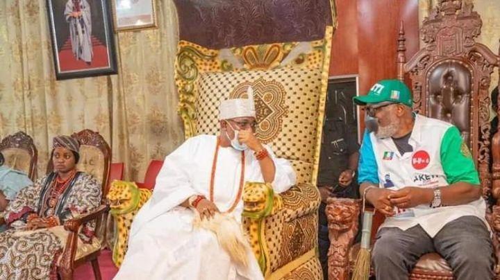 Governor Akeredolu With Oba Ogunlade (Deji Of Akure)