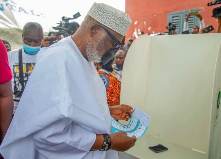 Governor Rotimi Akeredolu At The Ondo Election Ground