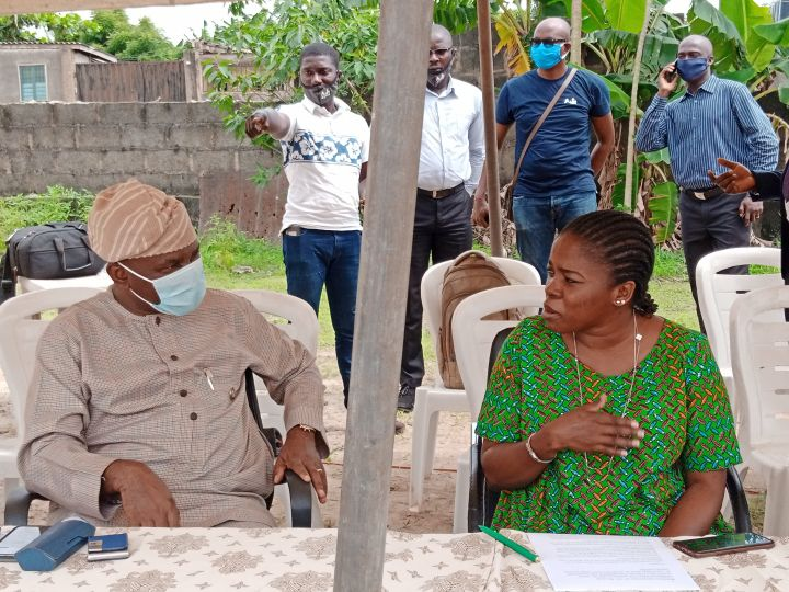 Lagos State Acting Commissioner for Agriculture, Ms. Abisola Olusanya at the Quarterly Forum for Fish and Crop Farmers at the Odogunyan Fish Farm Estate