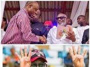 Minister of Transport Romiti Amaechi congratulates Governor Rotimi Akeredolu