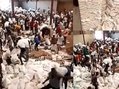 Osun Residents Looting Palliatives