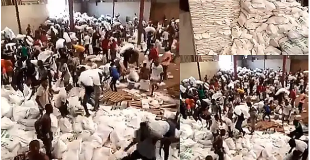 Residents Looting Palliatives