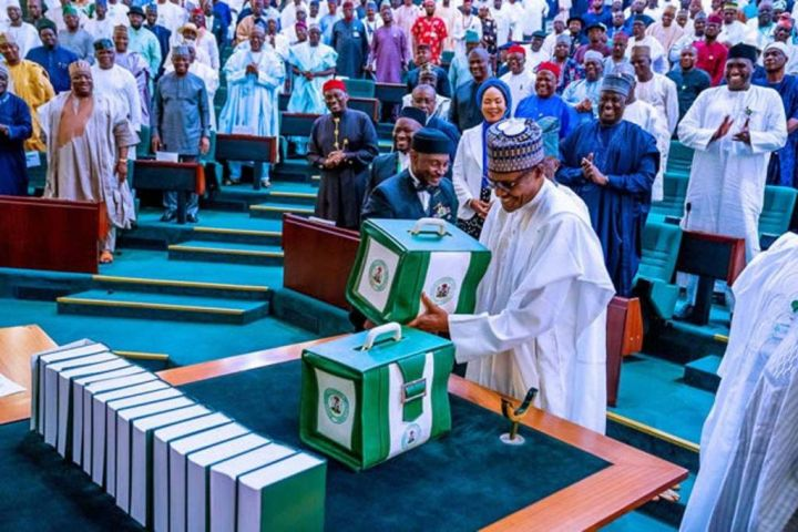 President Muhammadu Buhari At The Budget Presentation