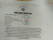 Save Lagos Group's Letter to Governor Babjide Sanwo-Olu - Page1