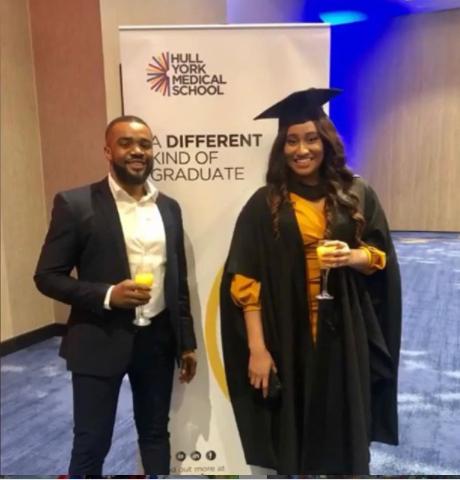 Williams Uchemba and his fiancee