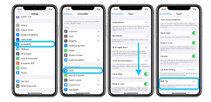 Backup Tap On iphone