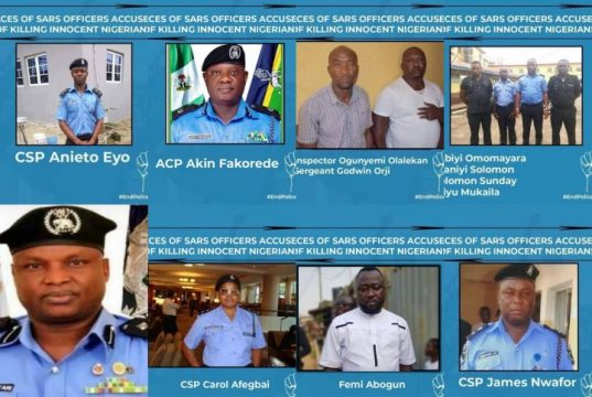 Faces of SARS Officers Accused of Killing Innocent Nigerians with SAR Boss Abba Kyari