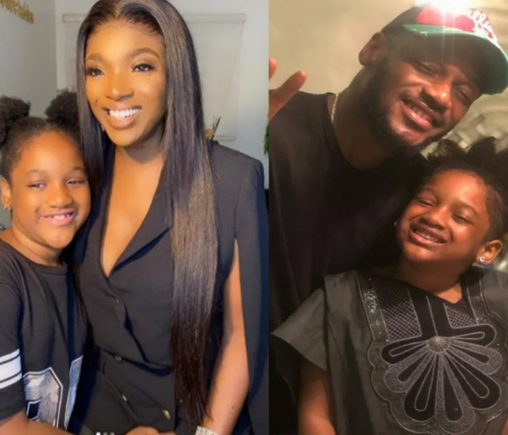 2baba and Annie Idibia with their daughter, Olivia Idibia