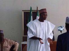 Prof. Mamman addressing Taraba State APC stalwarts when NCECPC visited Jalingo recently