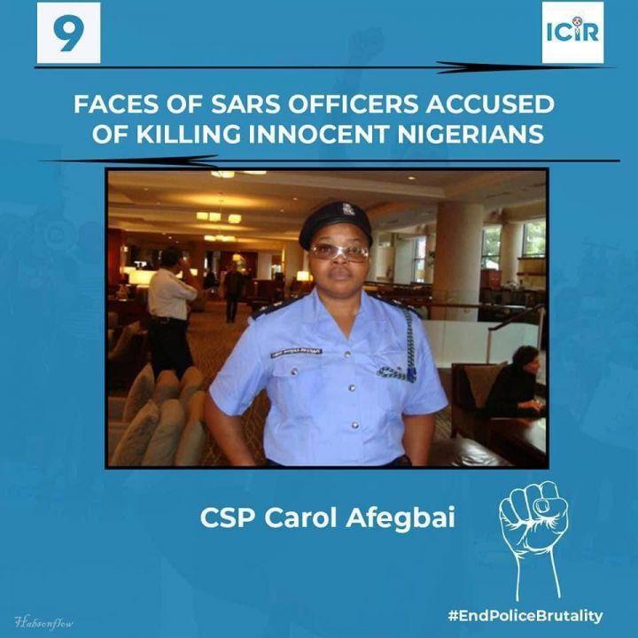 SARS Officer Accused of Killing Innocent Nigerians - CSP Carol Afegbai