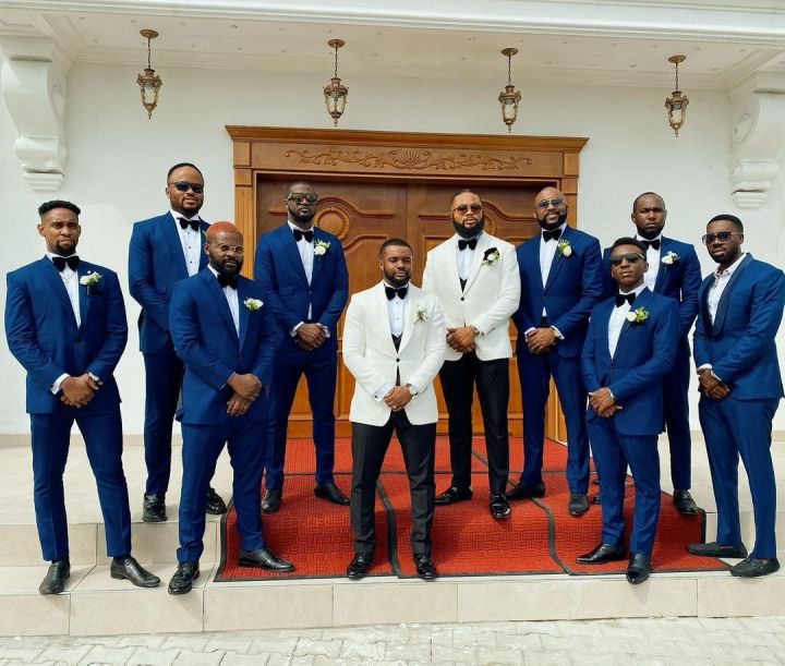Guests at Williams Uchemba's wedding