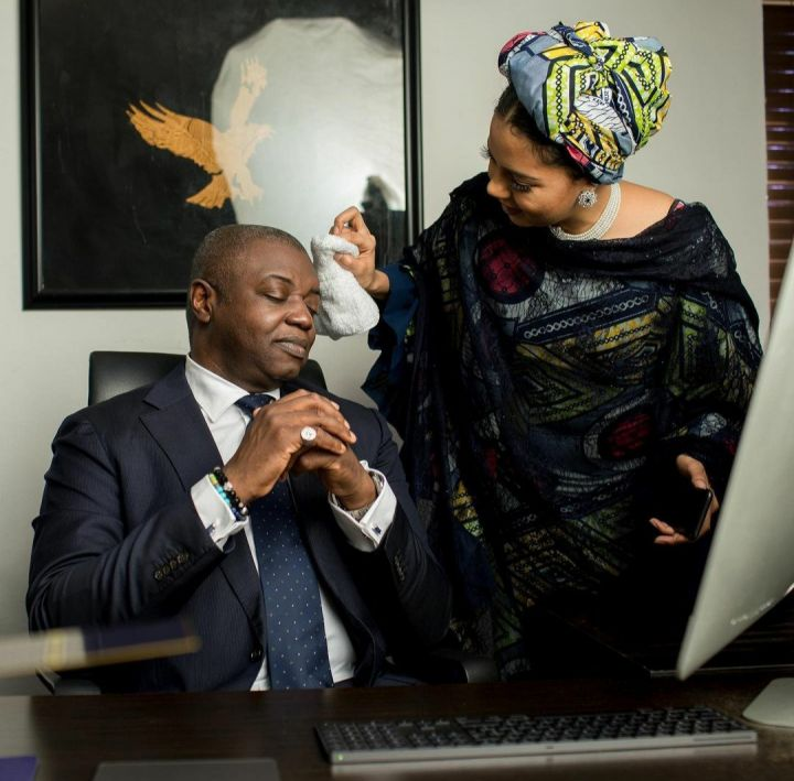 Adama Indimi Ado-Ibrahim and her husband