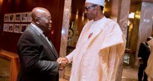 Ghana President, Nana Akufo-Addo and President Muhammadu Buhari of Nigeria