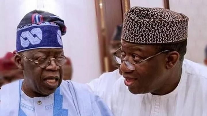 National leader of All Progressives Congress (APC) Bola Tinubu and Ekiti State Governor, Fayode Fayemi