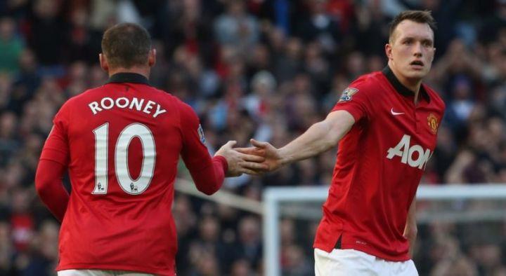 Wayne Rooney and Phil Jones