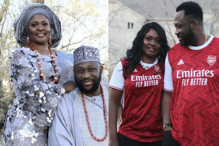 Tayo Adeleye and his wife