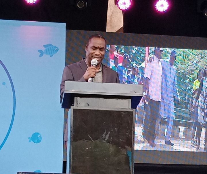 Deputy Governor of Lagos, Dr Obafemi Hamzat at Y2020 Edition of the Lagos Seafood Festival held at the Muri Okunola Park, Victoria Island