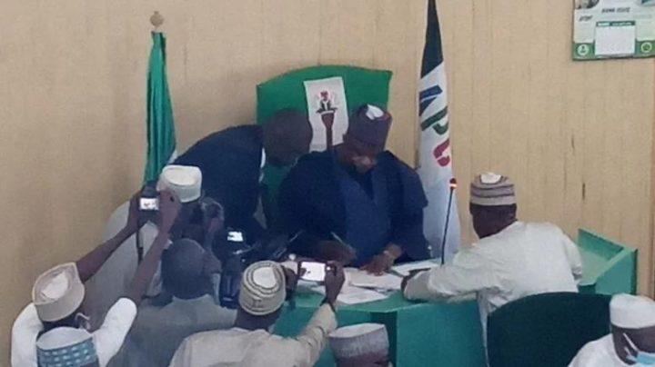 The New Speaker Of Kano State House of Assembly, Mr Hamisu Ibrahim-Chidari