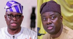 Former Ekiti State Governor, Ayodele Fayose and Governor Seyi Makinde Of Oyo State