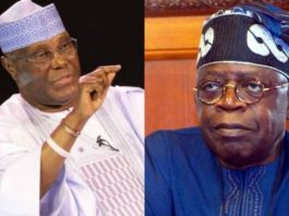 Former Vice President, Alhaji Atiku Abubakar and the National Leader of the All Progressives Congress, APC, Ashwaju Bola Tinubu