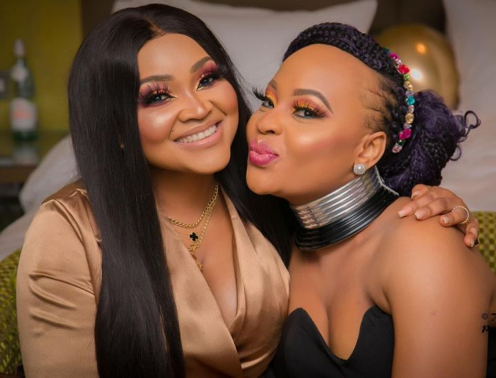 Mercy Aigbe and her sister
