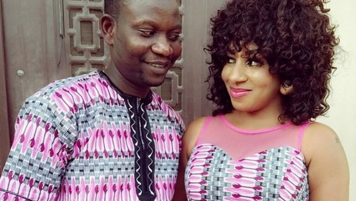 Mide Martins and her husband