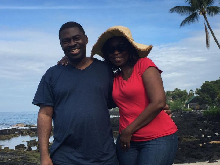 Wale Adenuga and his wife