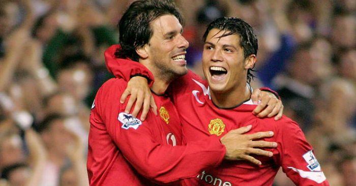 Ruud Van Nistelrooy and Ronaldo