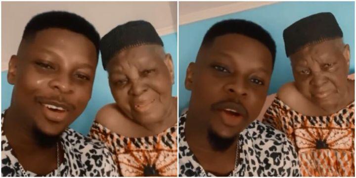 Salami Rotimi and his grandmother