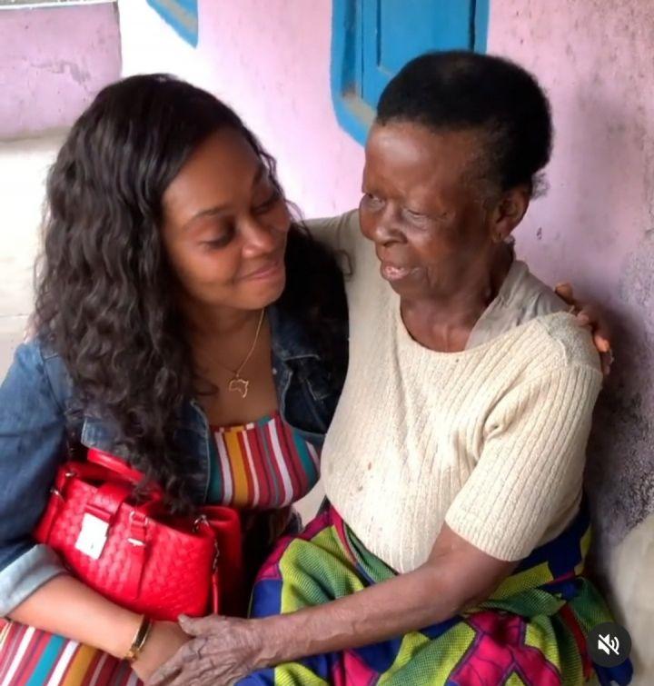 Tana Adelena and her grandmother