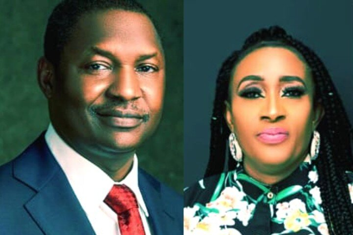 Abubakar Malami and Obiaruko Christie Ndukwe