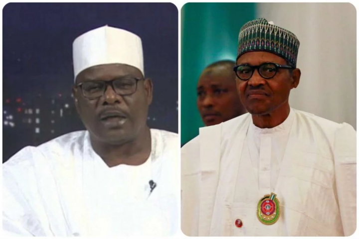 Ali Ndume and Muhammadu Buhari