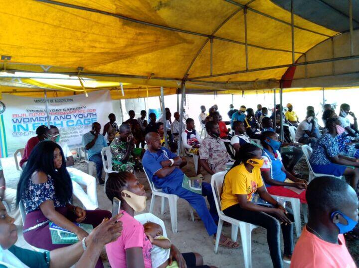 Three-day capacity building on fish cage culture system for 120 women and youths in Badagry, Lagos State