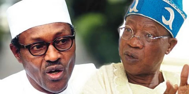 President Muhammadu Buhari and the minister of Information and Culture, Alhaji Lai Mohammed