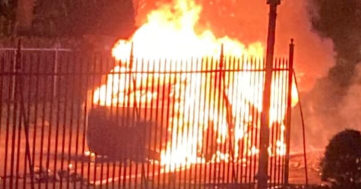 Brand-new-Tesla-catches-fire-with-driver-at-wheel