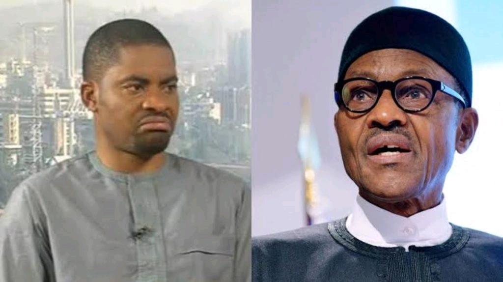 Deji Adeyanju and Muhammadu Buhari