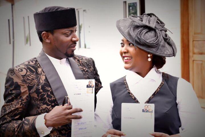 John Njamah and his wife
