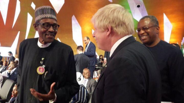 Nigeria's President Muhammadu Buhari and UK Prime Minister Bori Johnson