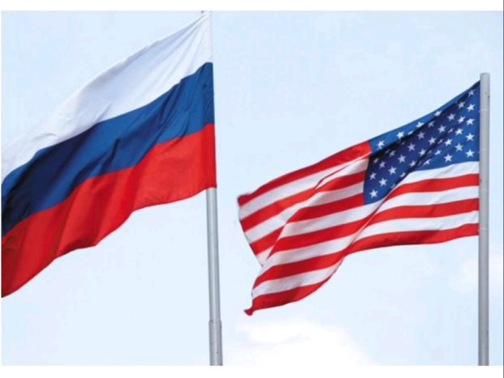 Russia and US Flags