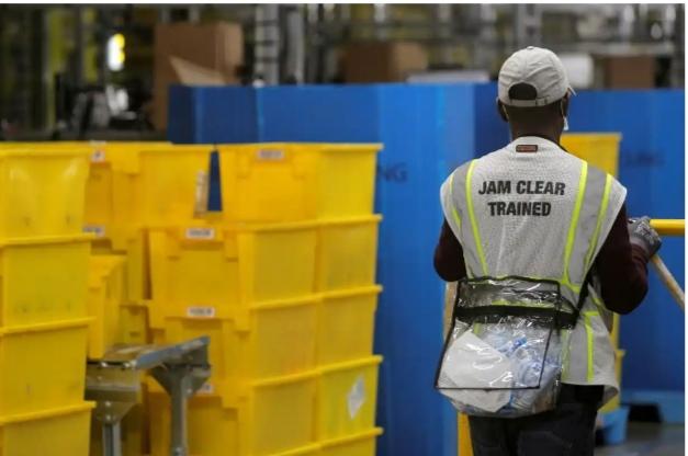 Amazon female Worker