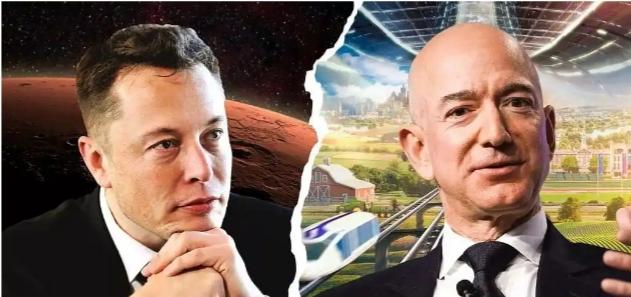 Elyon Musk and Jeff Bezos